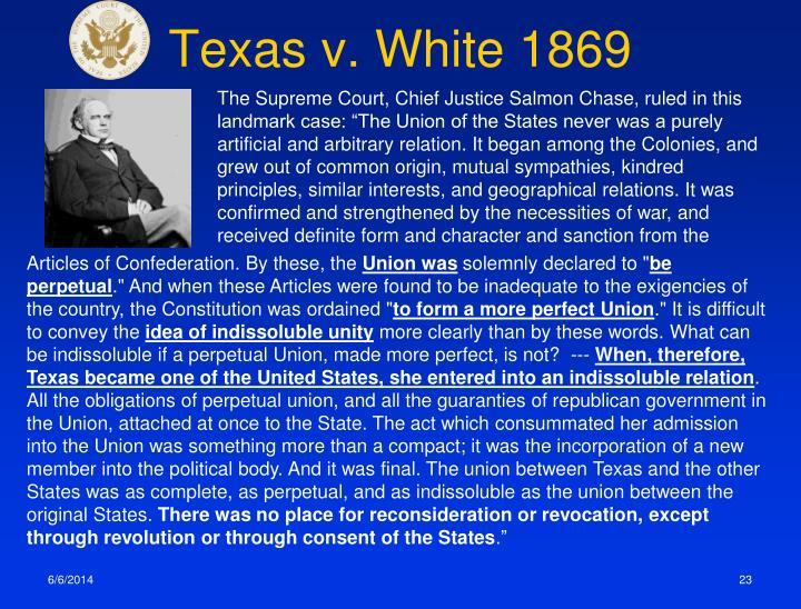 Texas v. White 1869