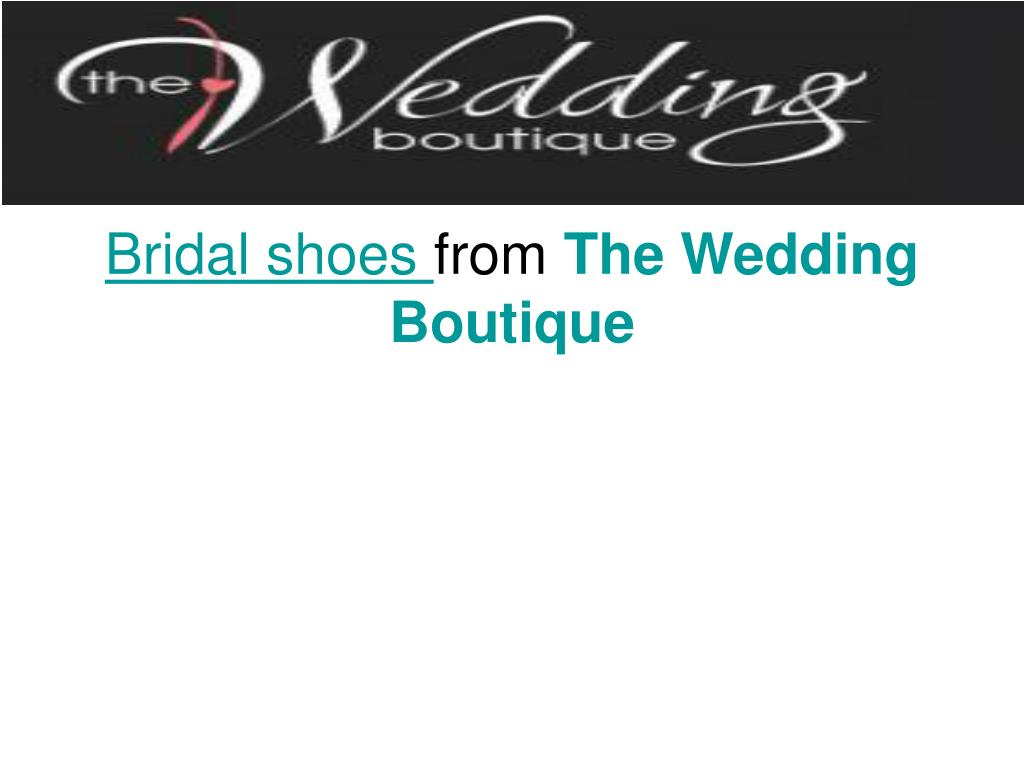 bridal shoes from the wedding boutique