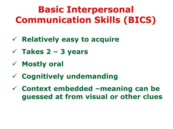 Basic Interpersonal Communication