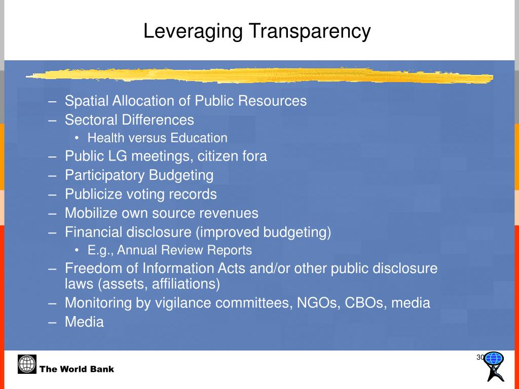 Leveraging Transparency