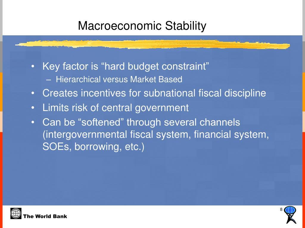 Macroeconomic Stability