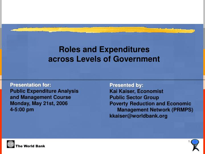 Roles and expenditures across levels of government l.jpg