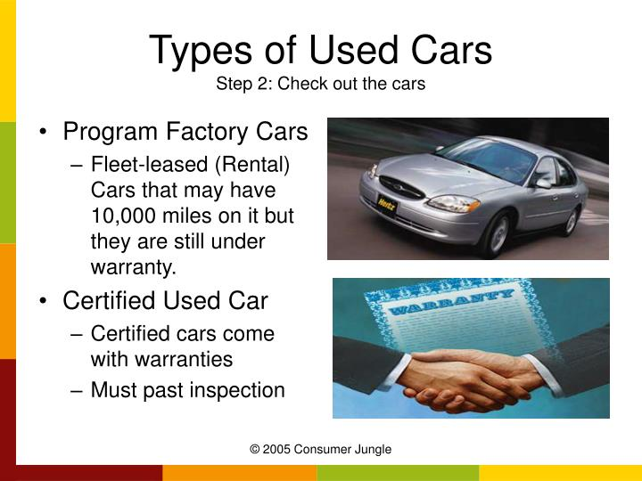 Types of Used Cars