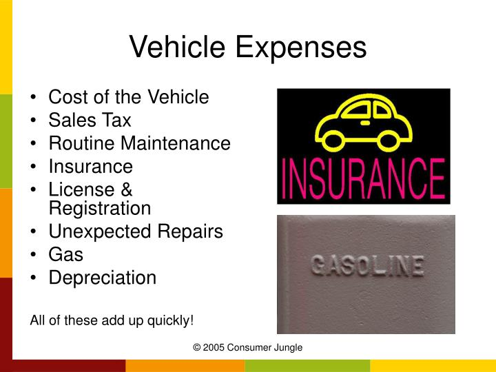 Vehicle expenses