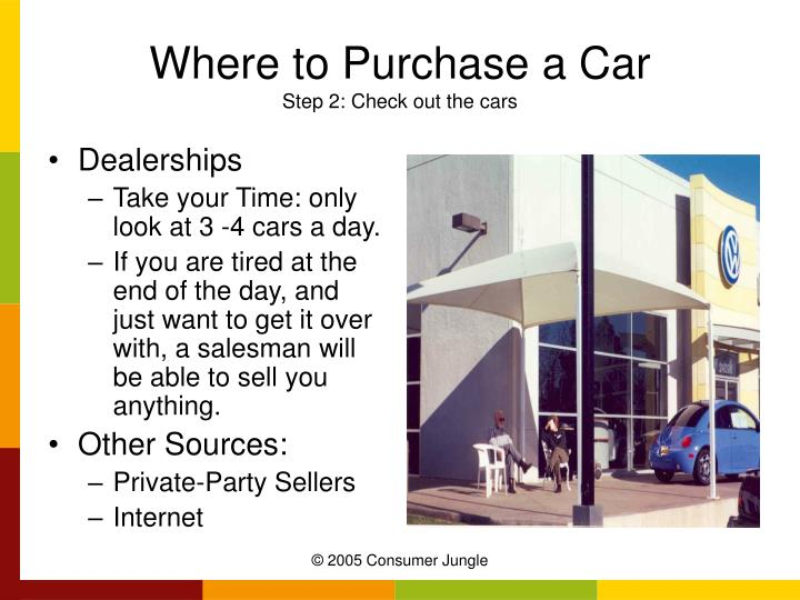 Where to Purchase a Car