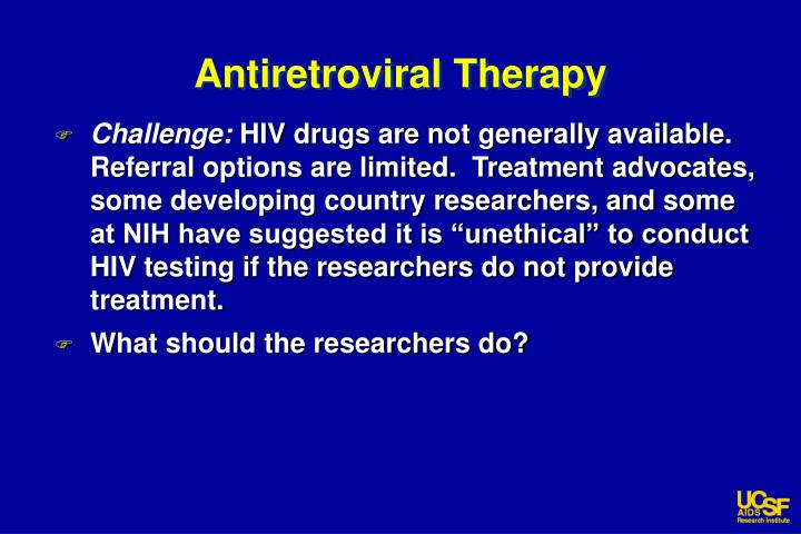 Antiretroviral Therapy