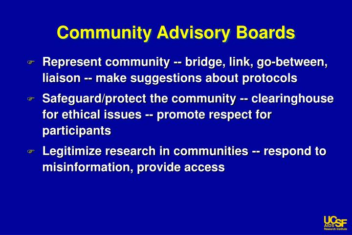 Community Advisory Boards