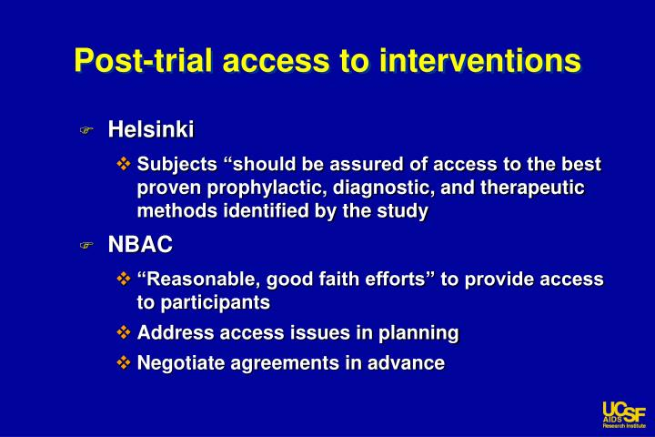 Post-trial access to interventions