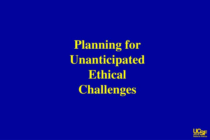 Planning for Unanticipated Ethical Challenges