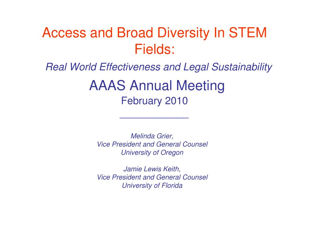 Access and Broad Diversity In STEM Fields: