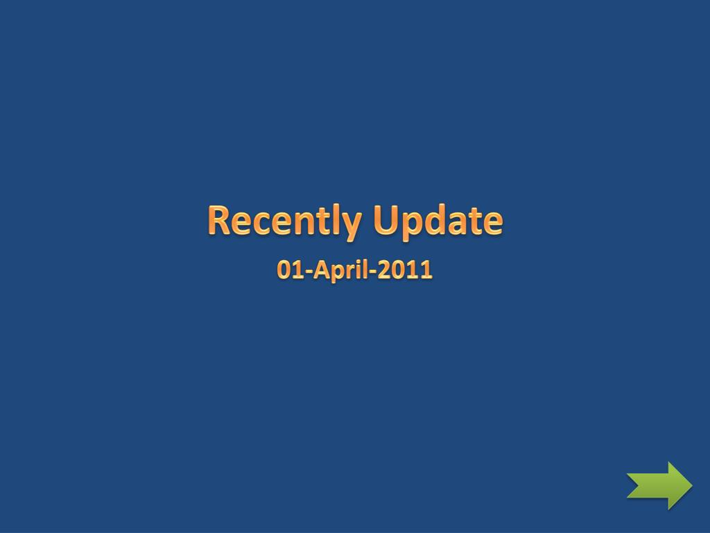 Recently Update