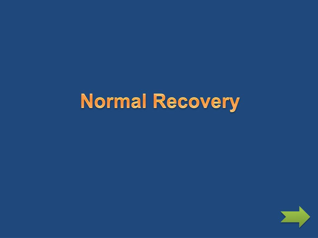 Normal Recovery