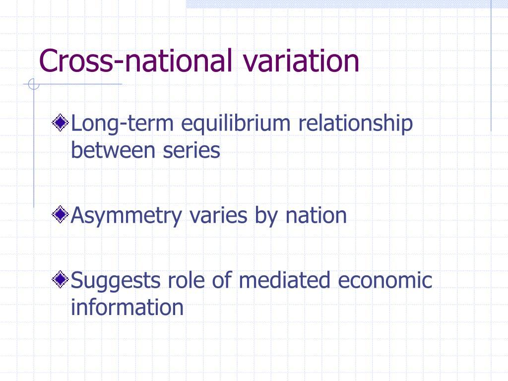 Cross-national variation