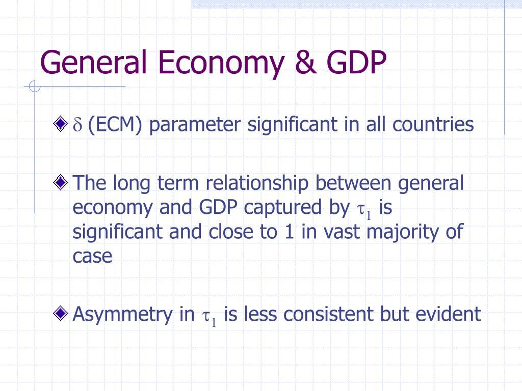 General Economy & GDP