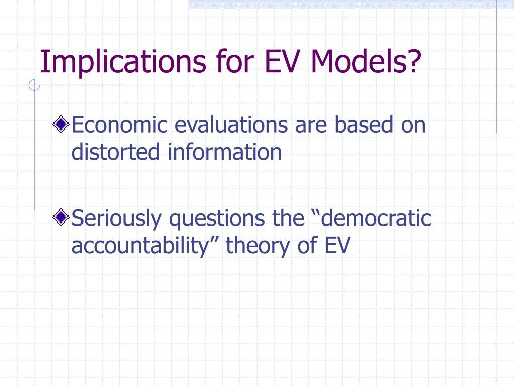 Implications for EV Models?