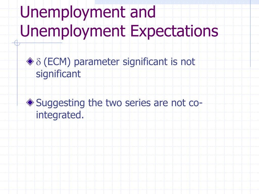 Unemployment and Unemployment Expectations