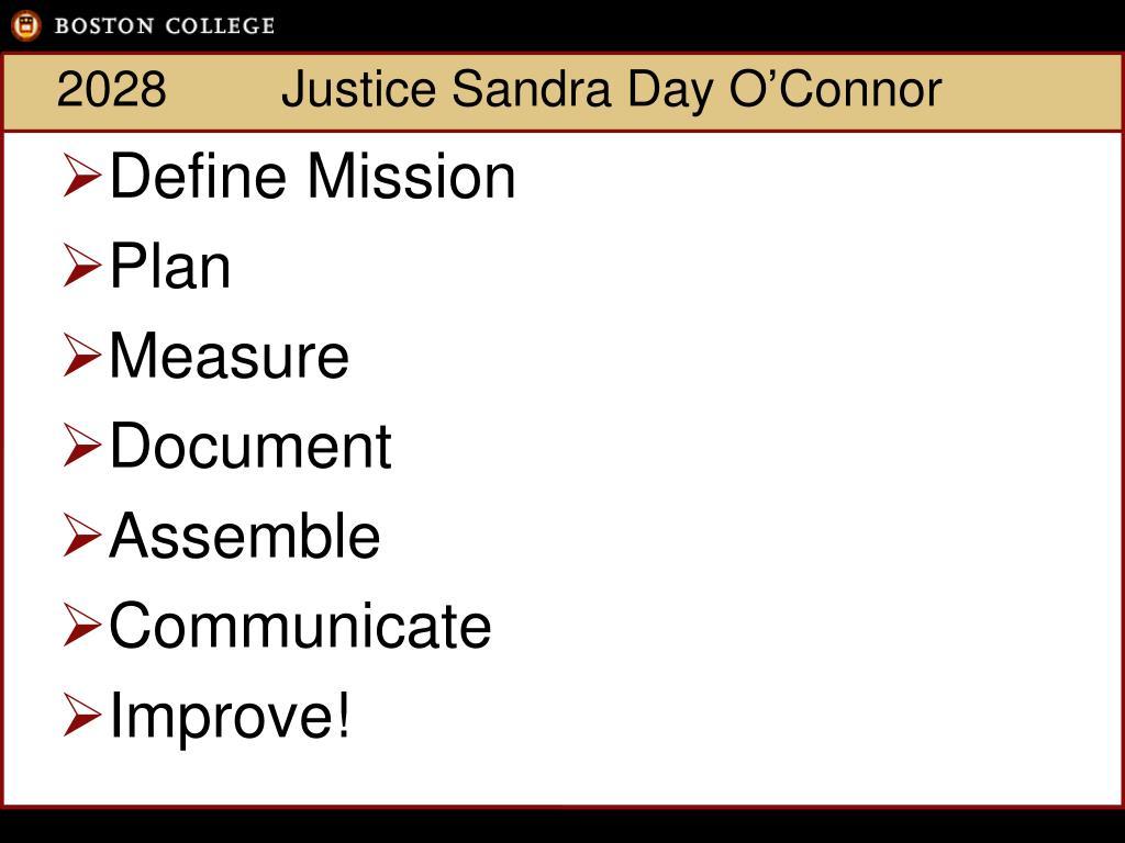 2028Justice Sandra Day O'Connor