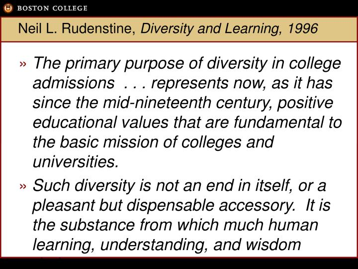 Neil l rudenstine diversity and learning 1996