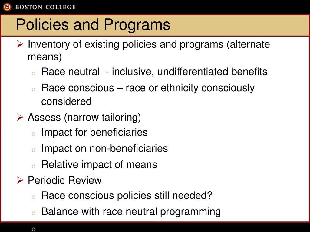 Policies and Programs