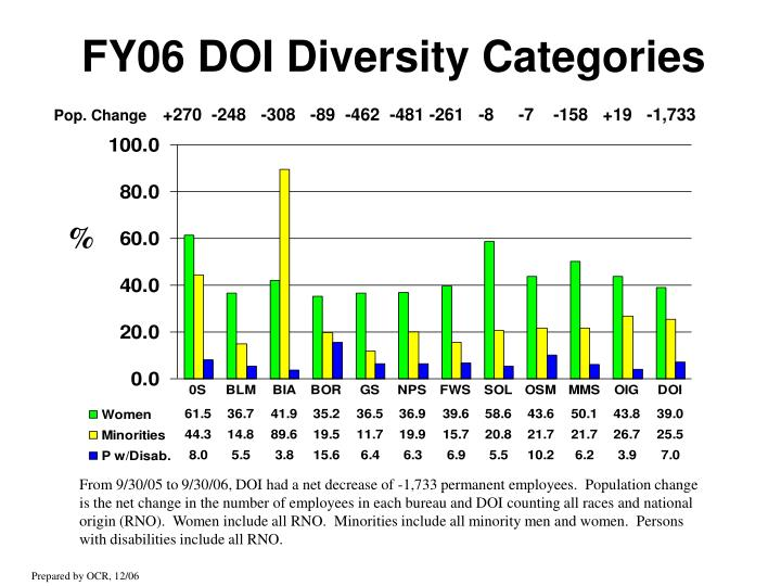Fy06 doi diversity categories