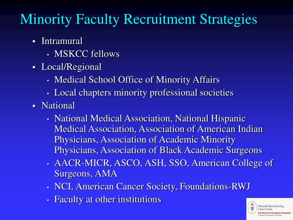 Minority Faculty Recruitment Strategies