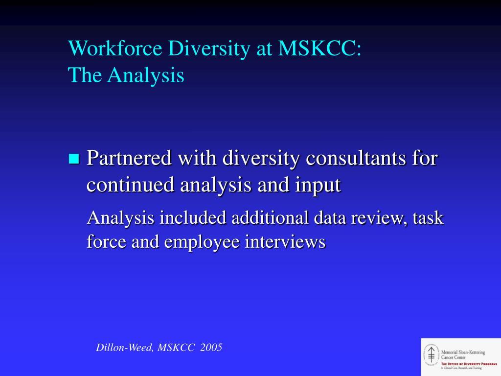 Workforce Diversity at MSKCC: