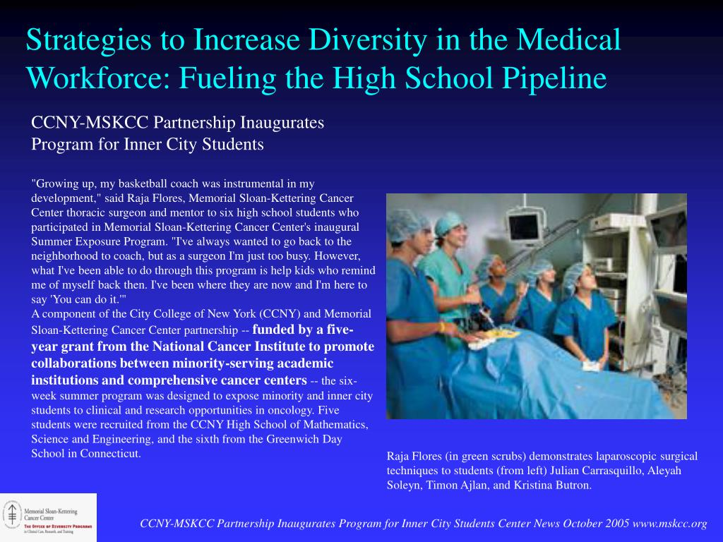 Strategies to Increase Diversity in the Medical Workforce: Fueling the High School Pipeline