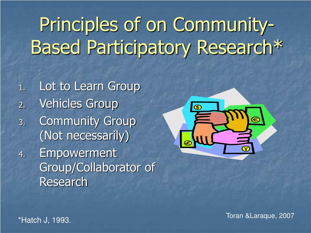 Principles of on Community-Based Participatory Research*