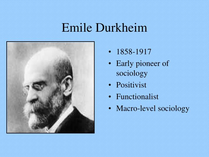emile durkheim thesis on deviance For durkheim, anomie arises more generally from a mismatch between he described 5 types of deviance in terms of the acceptance or rejection of social goals.