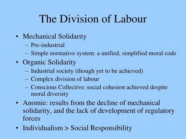 durkheims notion of movement from mechanical to organic Extracts from emile durkheim  the substitution of organic solidarity for mechanical solidarity makes this decline necessary  movement began after the war of .