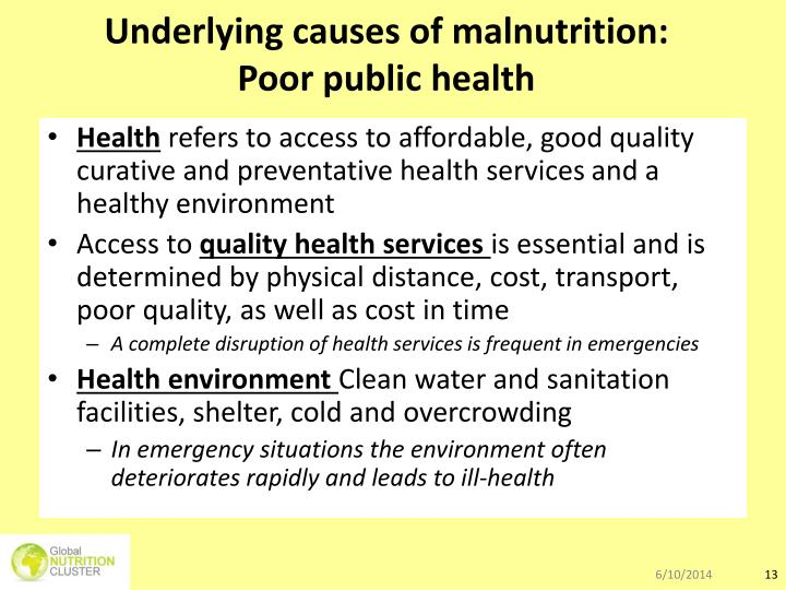 Underlying causes of