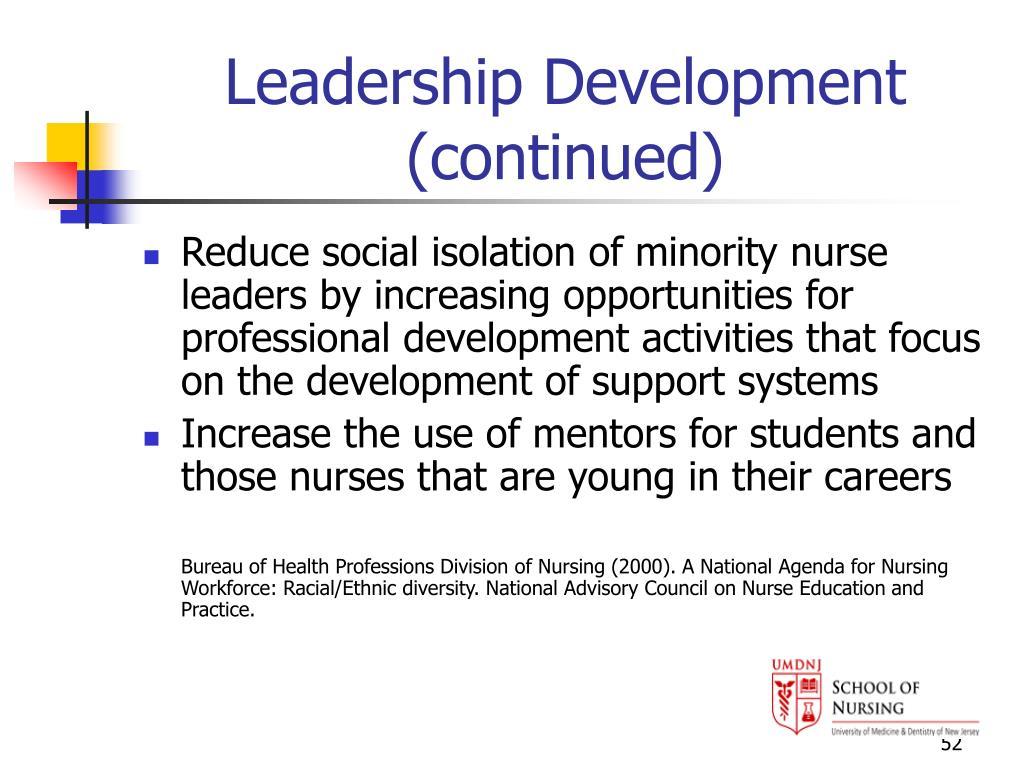 Leadership Development (continued)