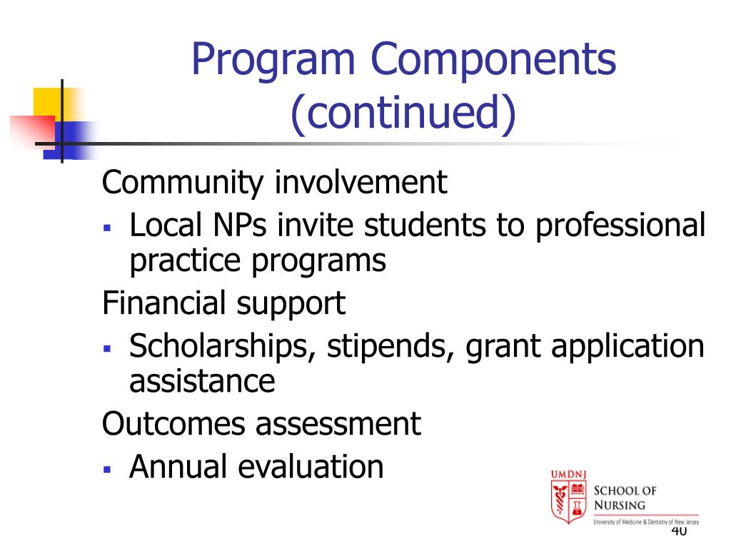 Program Components (continued)