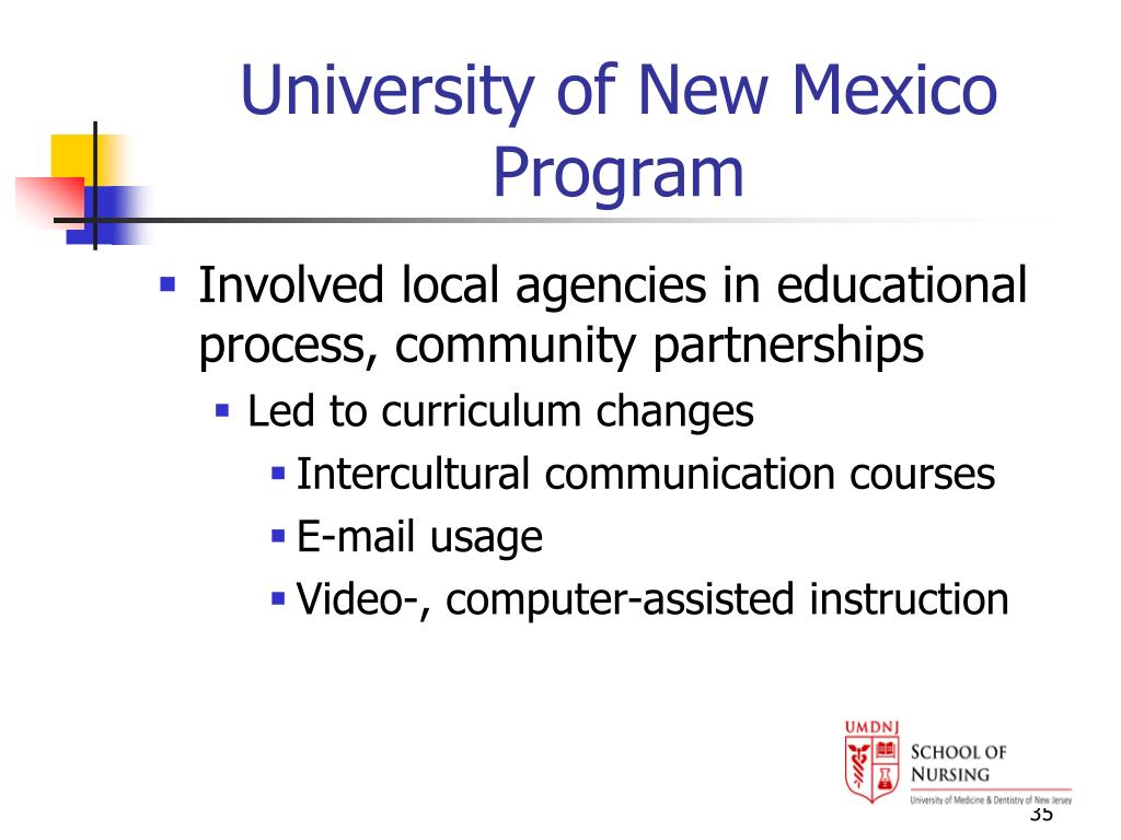 University of New Mexico Program