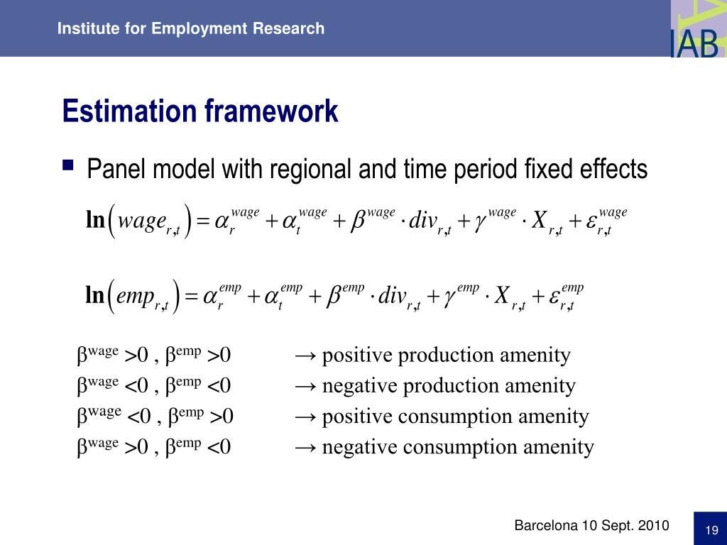 Estimation framework