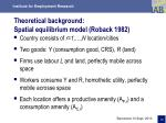 theoretical background spatial equilibrium model roback 1982