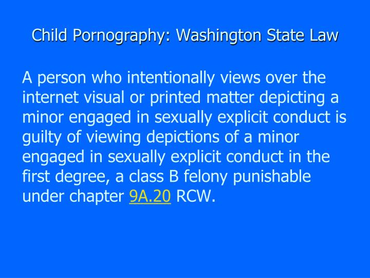 Something washington state law pornography phrase