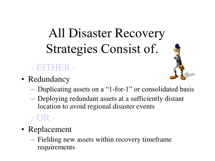 All Disaster Recovery Strategies Consist of…