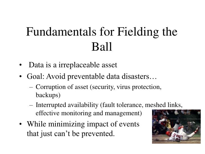 Fundamentals for Fielding the Ball