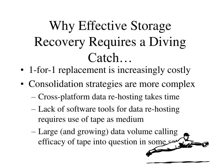 Why Effective Storage Recovery Requires a Diving Catch…