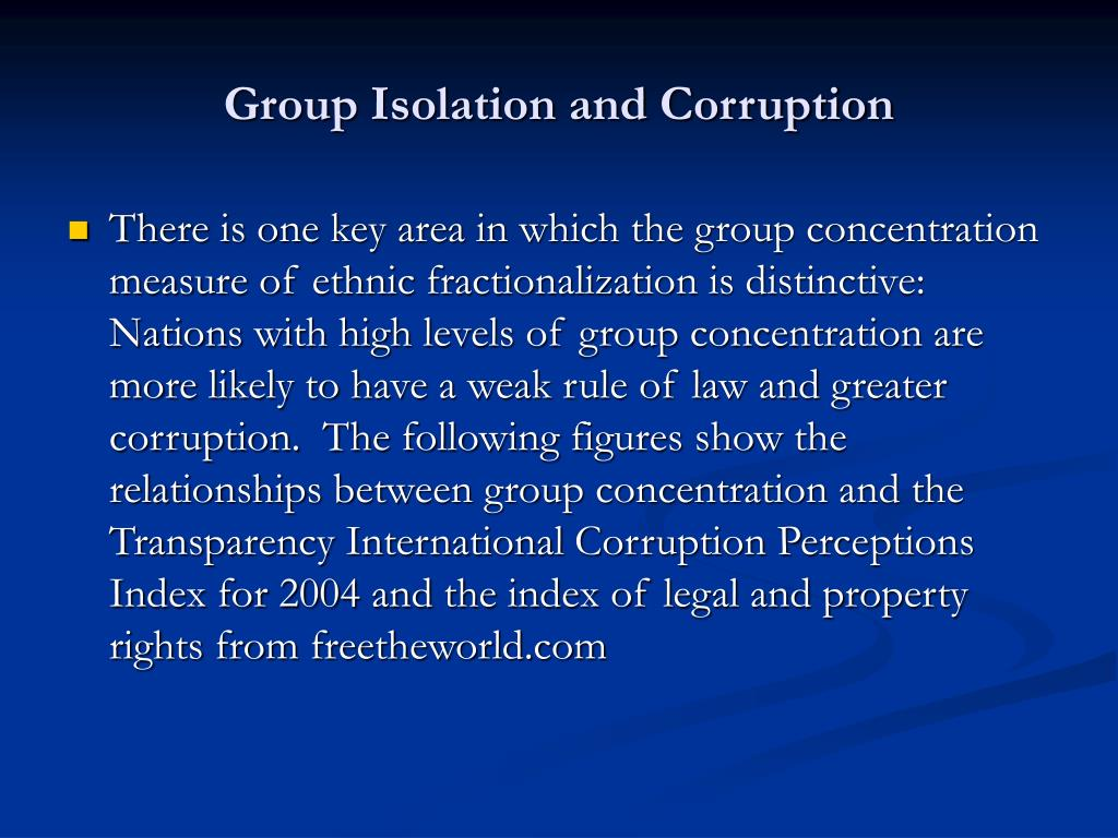 Group Isolation and Corruption