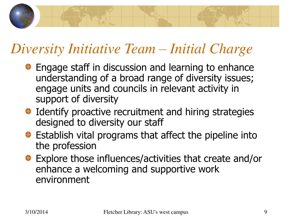 Diversity Initiative Team – Initial Charge