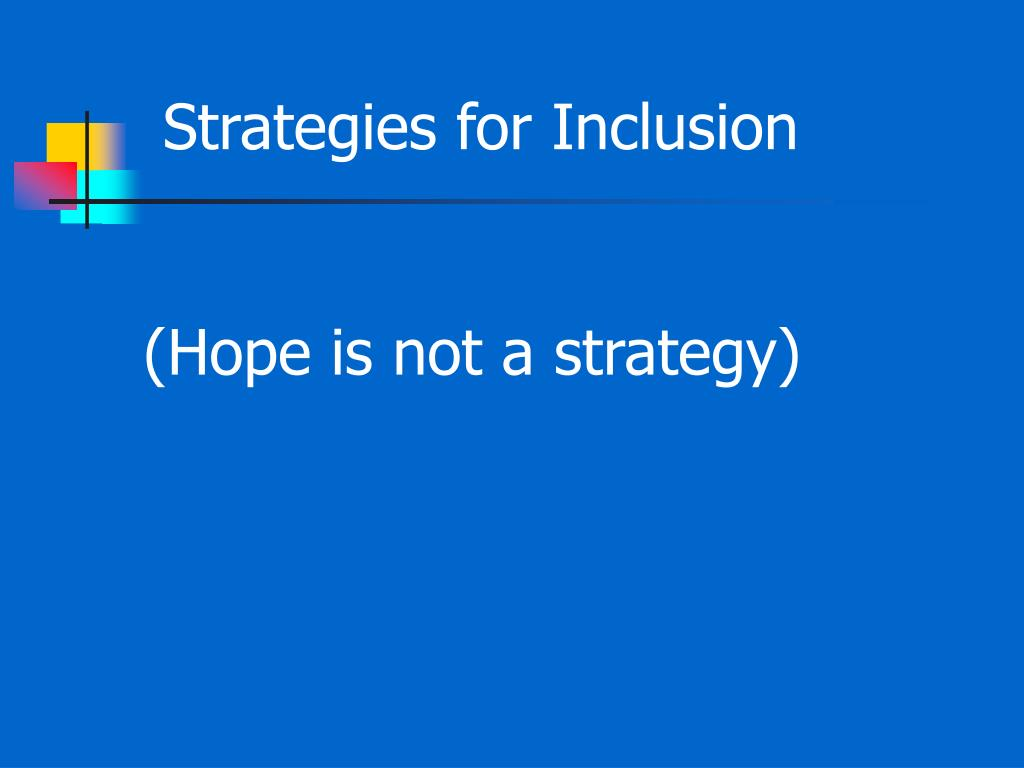 Strategies for Inclusion