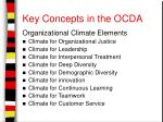 key concepts in the ocda