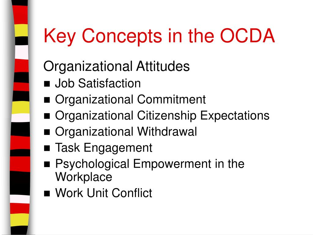 Key Concepts in the OCDA