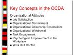 key concepts in the ocda6