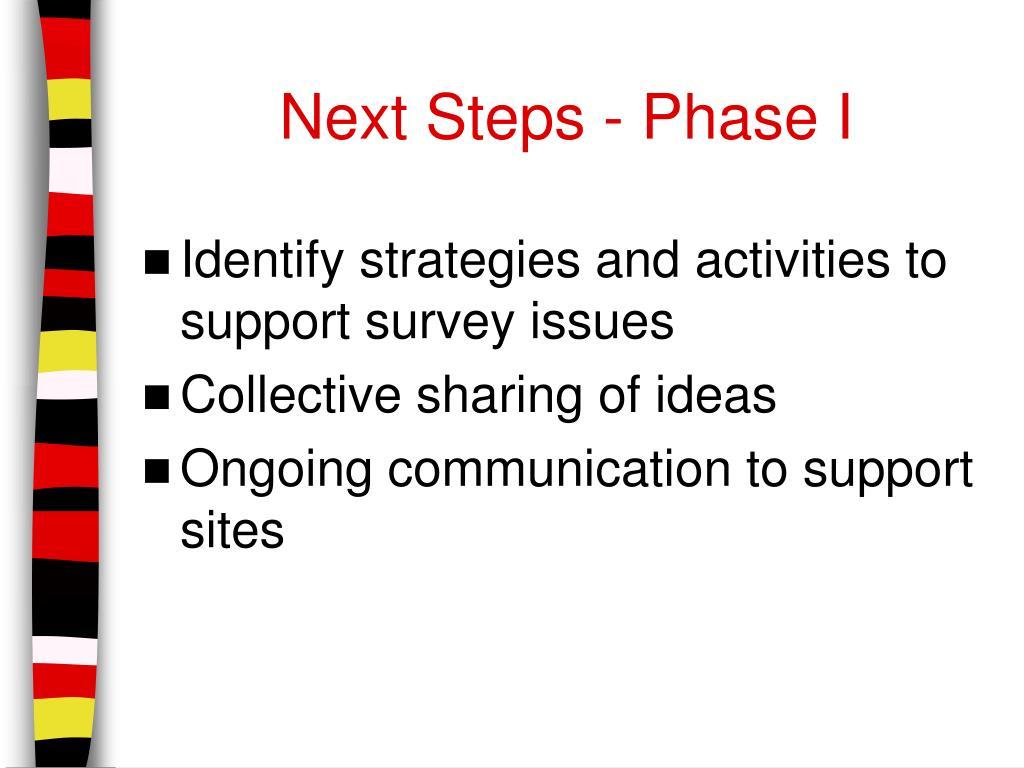 Next Steps - Phase I