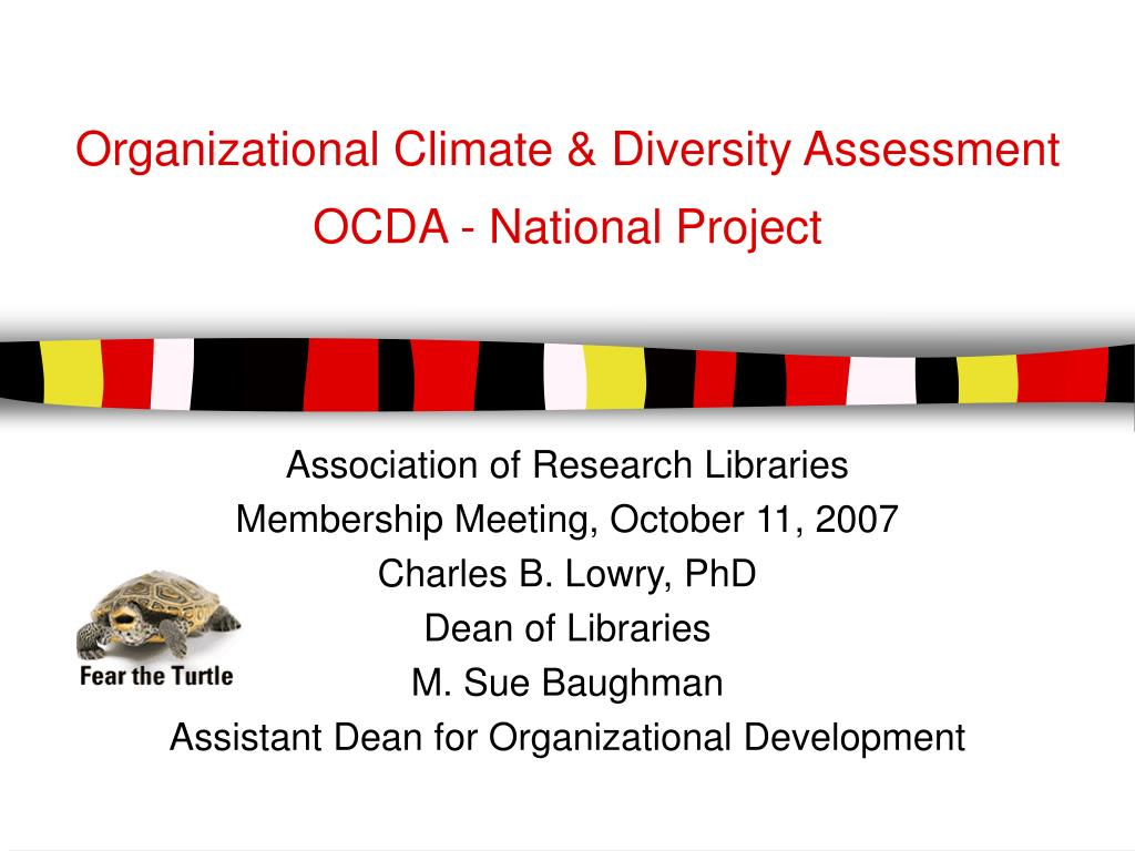 Organizational Climate & Diversity Assessment