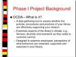 phase i project background4