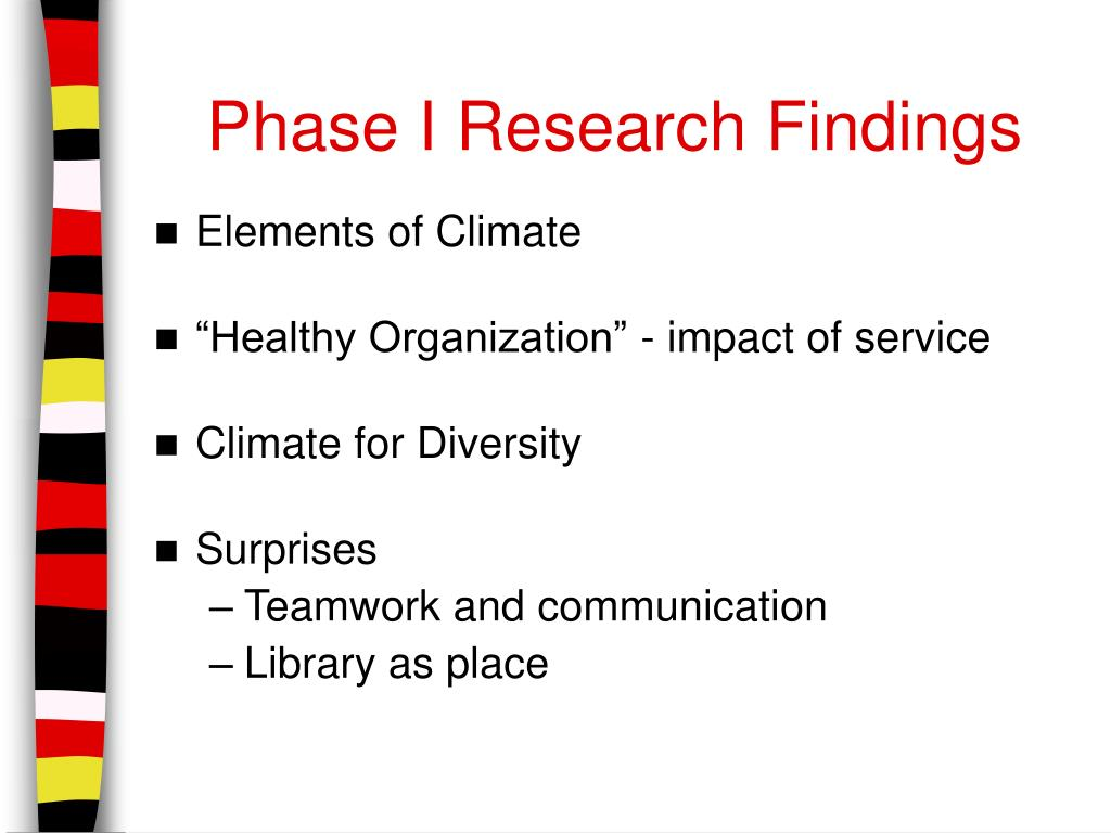Phase I Research Findings